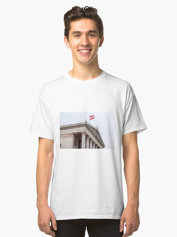 Alternate view of Austrian Parliament. Classic T-Shirt