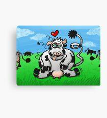 Unbridled Cow's Passion Canvas Print