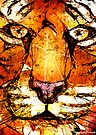 Scribble Tiger by Patricia Anne McCarty-Tamayo