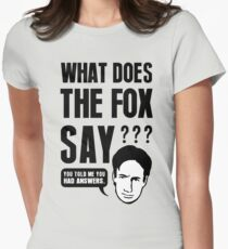 Fox Mulder - What Does The Fox Say Women's Fitted T-Shirt