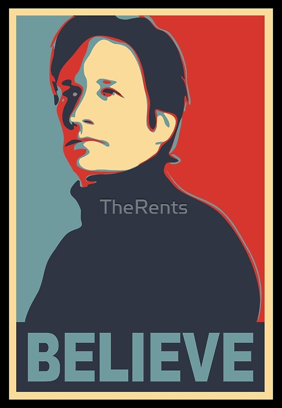 FOX MULDER BELIEVE | Art Print
