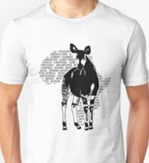 Okapi - Africa Map Unisex T-Shirt