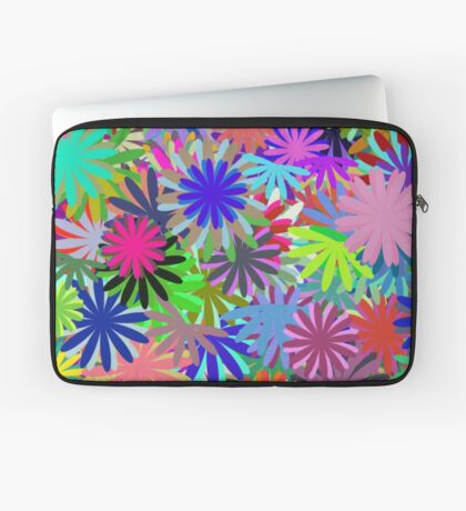 Meadow of Colorful Daisies Laptop Sleeve