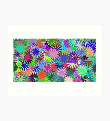 Meadow of Colorful Daisies Art Print