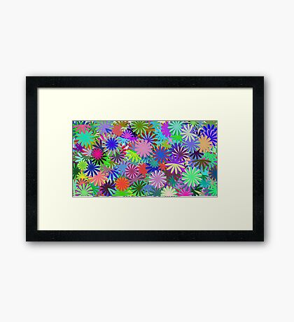 Meadow of Colorful Daisies Framed Print