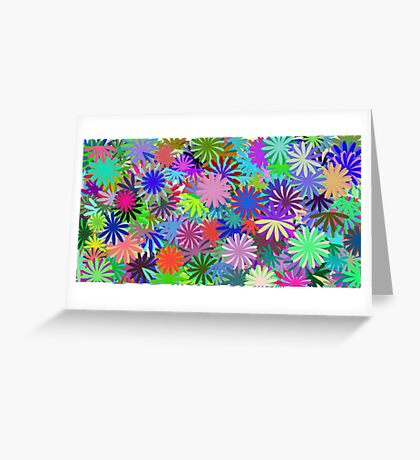 Meadow of Colorful Daisies Greeting Card