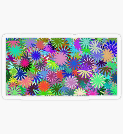 Meadow of Colorful Daisies Transparent Sticker