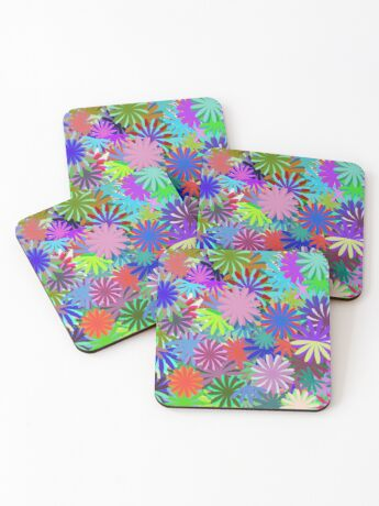 Meadow of Colorful Daisies Coasters