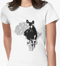 Okapi - Africa Map Women's Fitted T-Shirt
