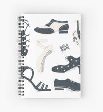 Puzzle de zapatos de baile Cuaderno de espiral