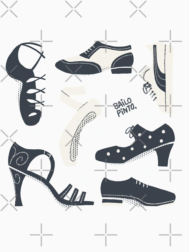 Puzzle de zapatos de baile de bailopinto