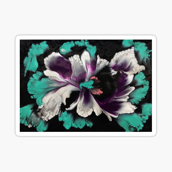 White Orchid Too Sticker