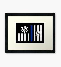 Coast Guard Thin Blue Line Ensign Framed Print