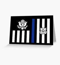 Coast Guard Thin Blue Line Ensign Greeting Card