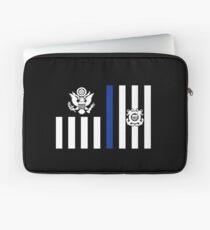 Coast Guard Thin Blue Line Ensign Laptop Sleeve