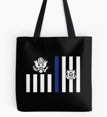 Coast Guard Thin Blue Line Ensign Tote Bag
