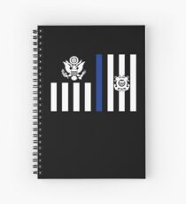 Coast Guard Thin Blue Line Ensign Spiral Notebook