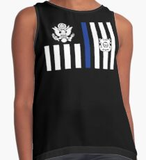 Coast Guard Thin Blue Line Ensign Sleeveless Top