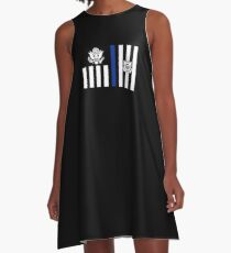 Coast Guard Thin Blue Line Ensign A-Line Dress