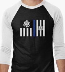 Coast Guard Thin Blue Line Ensign Baseball ¾ Sleeve T-Shirt