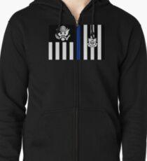 Coast Guard Thin Blue Line Ensign Zipped Hoodie