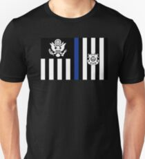Coast Guard Thin Blue Line Ensign Slim Fit T-Shirt
