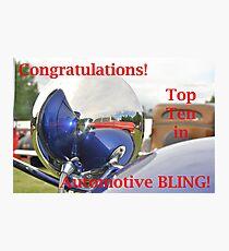 Automotive BLING! Top Ten Banner Photographic Print