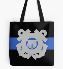 Coast Guard Thin Blue Line Tote Bag