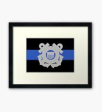 Coast Guard Thin Blue Line Framed Print