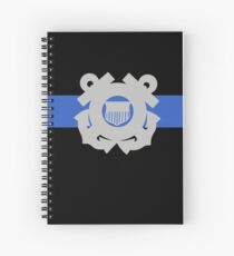 Coast Guard Thin Blue Line Spiral Notebook