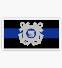 Coast Guard Thin Blue Line Transparent Sticker