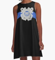 Coast Guard Thin Blue Line A-Line Dress