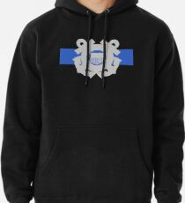 Coast Guard Thin Blue Line Pullover Hoodie