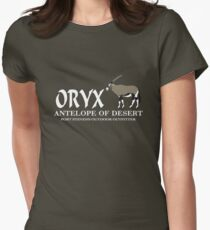 Oryx Antelope Womens Fitted T-Shirt