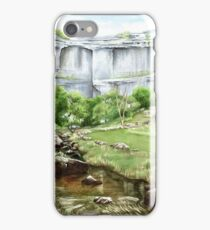'Malham Cove', North Yorkshire - Watercolour painting iPhone Case/Skin