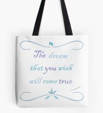 A Dream is a Wish Needlepoint Tote Bag