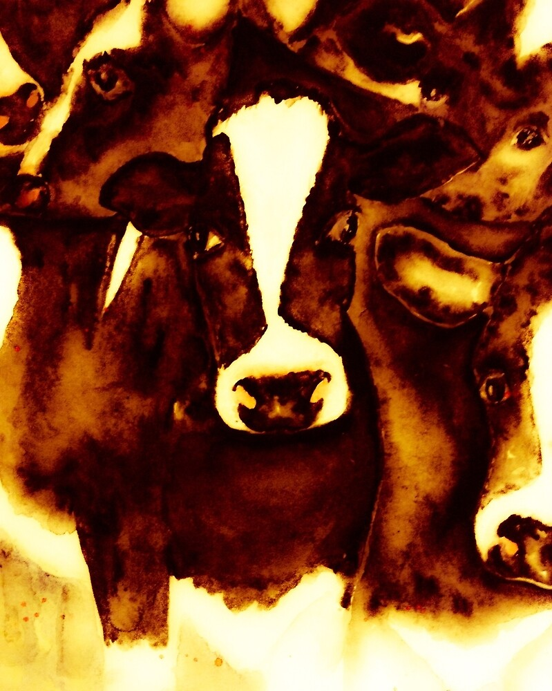 Cosy Brown cows by Valgibbons
