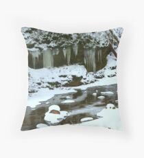 Winter Stream Throw Pillow