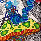 Mr.Hookah the smoking Caterpillar by bitsycabana