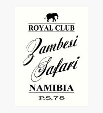 Zambesi Safari Art Print