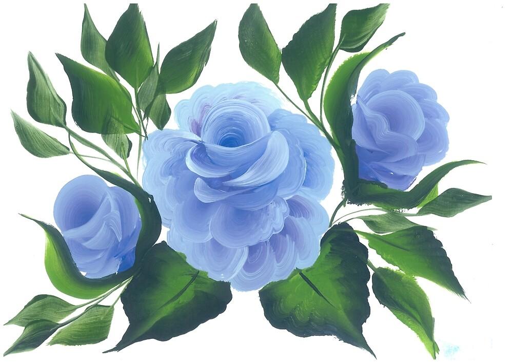 Mindove rose (blue) by mindove