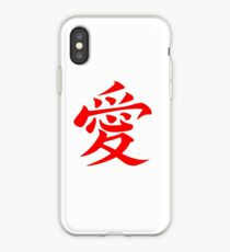 Chinese Love Symbol Red iPhone Case