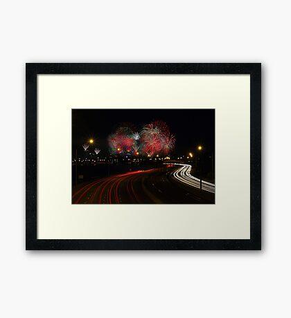 Australia Day Skyworks - Perth Western Australia  Framed Print