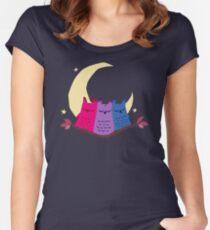 Bisexuels Tailliertes Rundhals-Shirt
