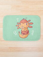 Halloween Axolotl - Pumpkin! Bath Mat