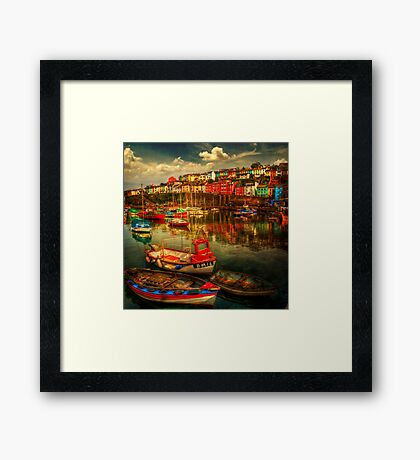 Brixham Boats Framed Print