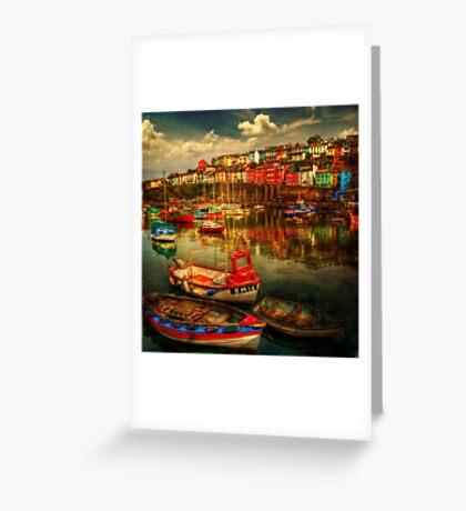 Brixham Boats Greeting Card