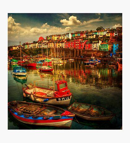 Brixham Boats Photographic Print