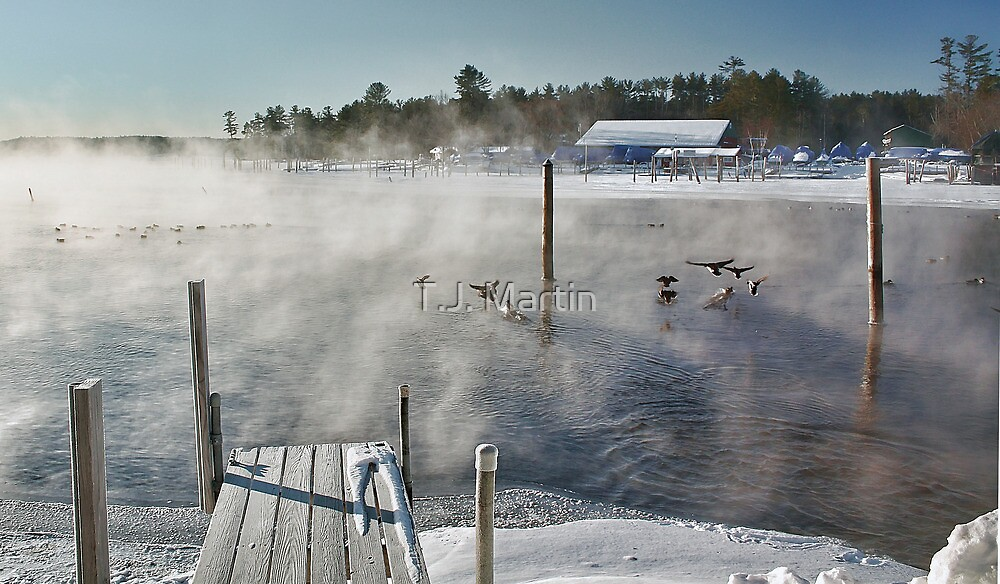 Cold Winter Morning on Brandy Pond by T.J. Martin