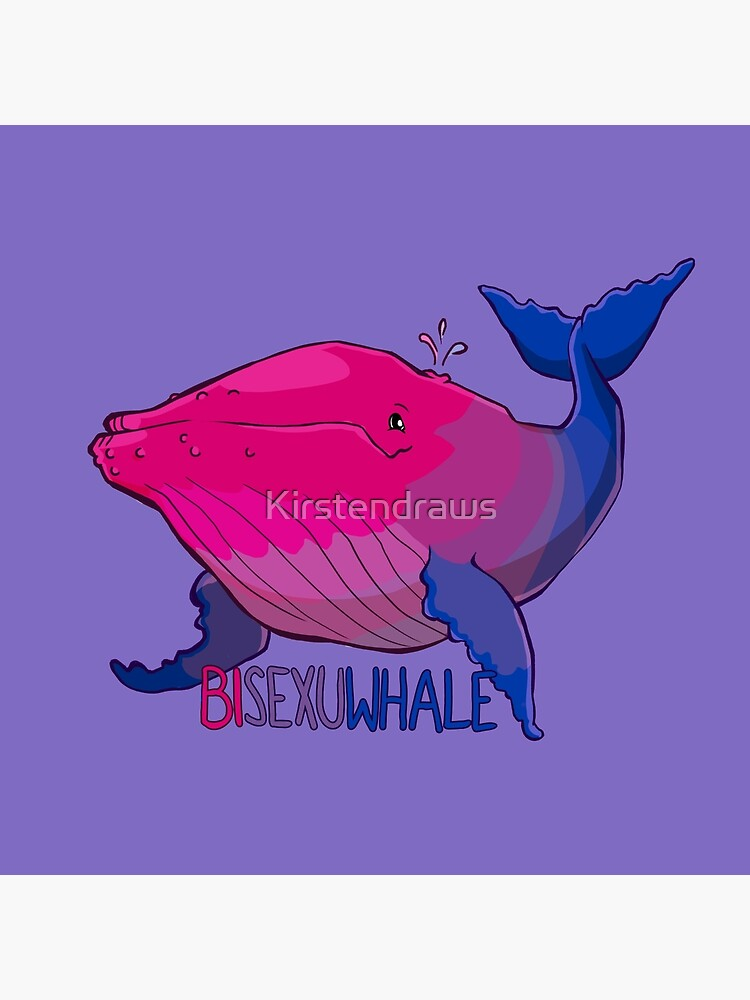 Bisexuwhale - with text by Kirstendraws